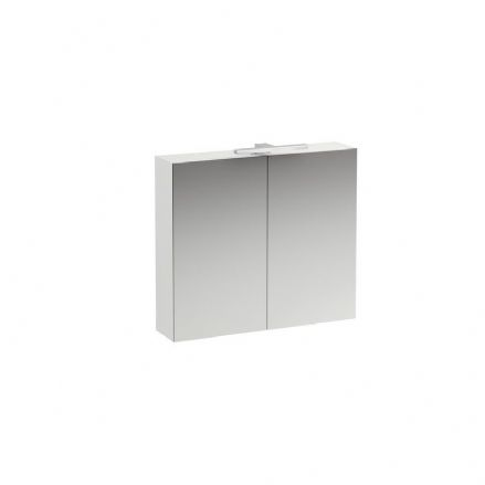 402822 - Laufen Base 700mm x 800mm Two-Door Mirror Cabinet with Light - 4.0282.2